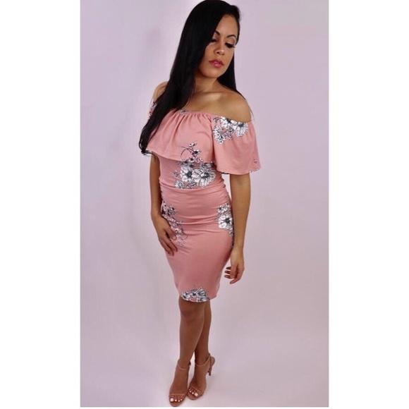 6f7685971971 New Heaven Sent - Pink Off the Shoulder Dress